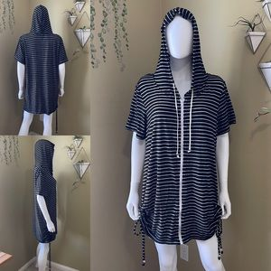 Striped Terry Cloth Cover Up